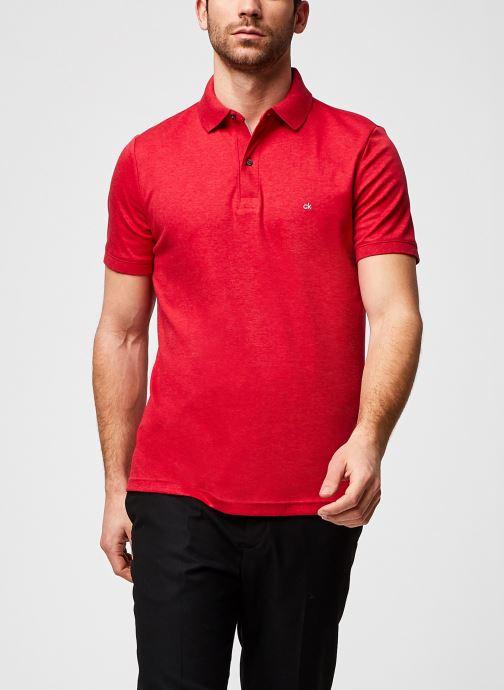 Vêtements Calvin Klein Liquid Touch Slim Polo Rouge vue détail/paire
