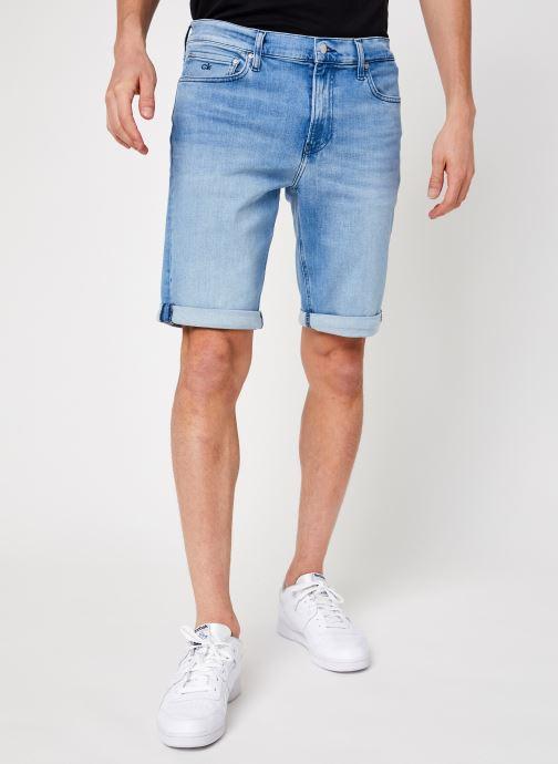 Vêtements Calvin Klein Slim Denim Short Light Blue Bleu vue détail/paire