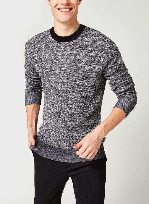 Vêtements Calvin Klein Cotton Silk Texture Sweater Noir vue détail/paire