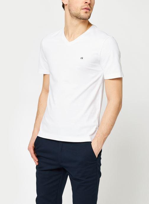 T-shirt - Logo Embroidery V-Neck