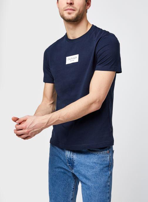 Vêtements Calvin Klein Chest Box Logo T-Shirt Bleu vue détail/paire