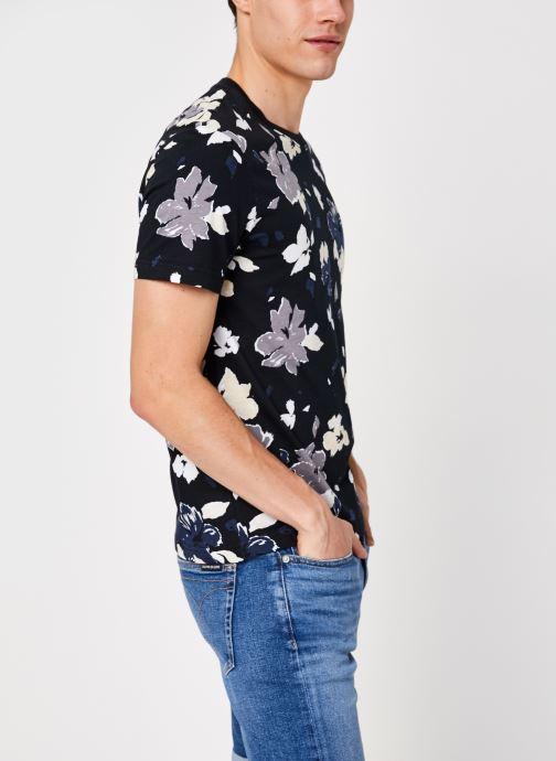 Kleding Calvin Klein Allover Flower Print T-Shirt Zwart detail
