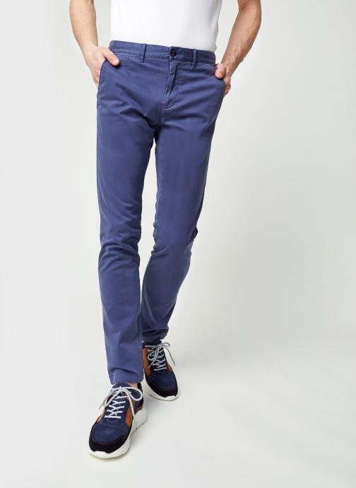 Vêtements Tommy Hilfiger Bleecker Th Flex Satin Chino Bleu vue détail/paire