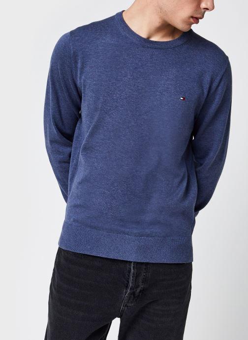 Vêtements Tommy Hilfiger Organic Cotton Blend Crew Neck Bleu vue détail/paire