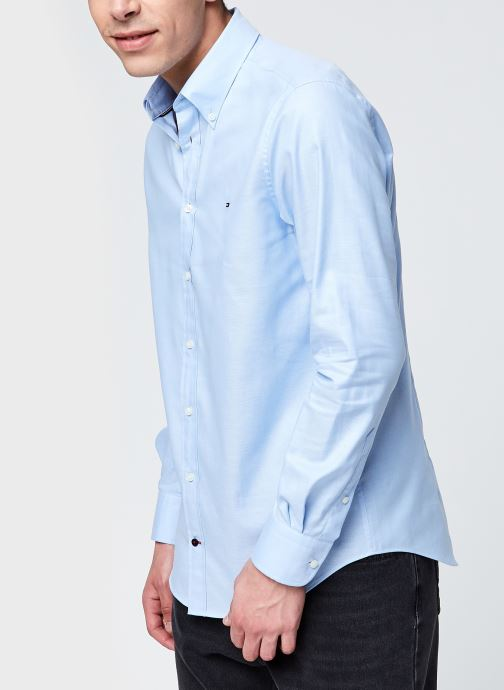 Ropa Tommy Hilfiger Oxford Slim Shirt Azul vista de detalle / par