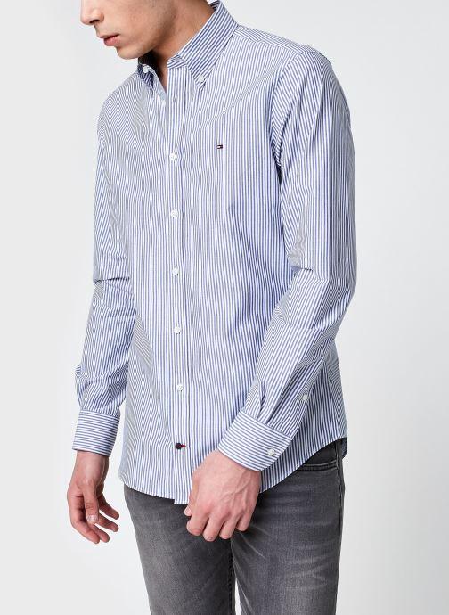 Vêtements Tommy Hilfiger Poplin Wide Stripe S Bleu vue détail/paire