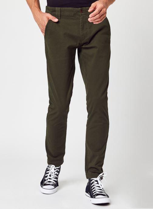 Ropa Tommy Jeans TJM Scanton Chino Pant Eco Verde vista de detalle / par