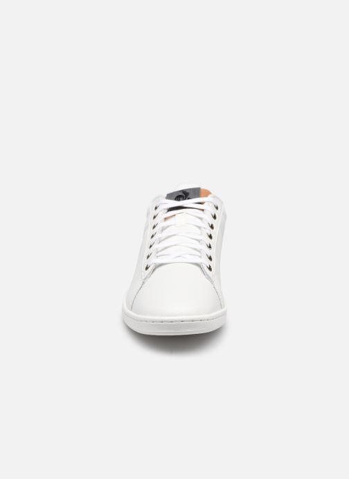 Sneakers Le Coq Sportif Master Court Denim Marrone modello indossato