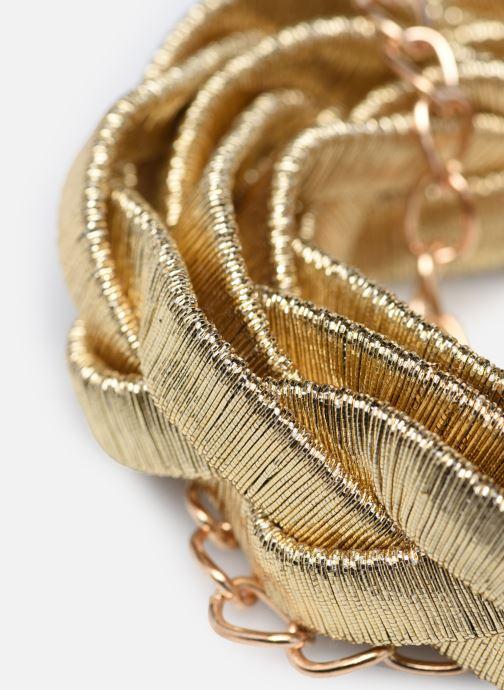 Cinture I Love Shoes WOTRESSE Oro e bronzo modello indossato