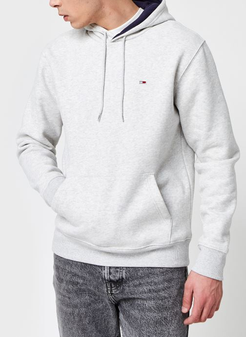Vêtements Tommy Jeans TJM Essential Script Hoodie Gris vue détail/paire