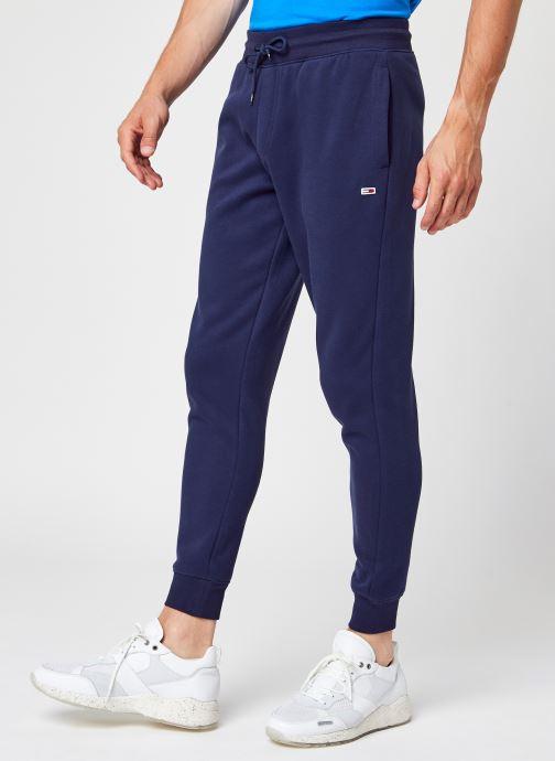 Ropa Tommy Jeans TJM Slim Fleece Sweatpant Azul vista de detalle / par