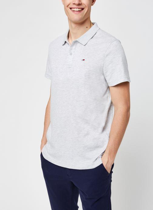 Vêtements Tommy Jeans TJM Essential Jersey Polo Gris vue détail/paire