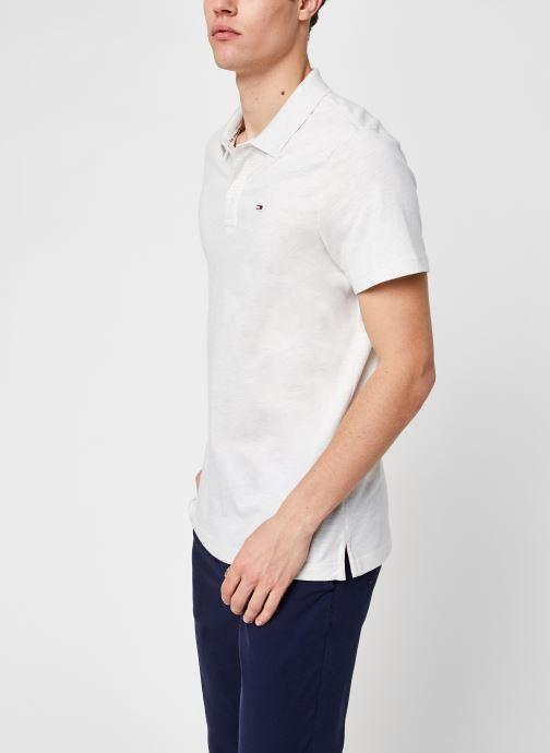 Vêtements Tommy Jeans TJM Essential Jersey Polo Blanc vue détail/paire
