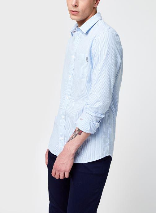 Kleding Accessoires TJM Seersucker Striped Shirt