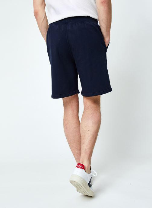 Vêtements Colorful Standard Classic Organic Sweatshorts Bleu vue portées chaussures