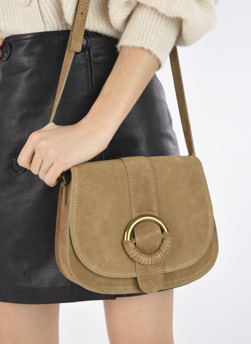 Handtaschen Georgia Rose Melyssa beige ansicht von unten / tasche getragen