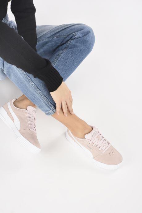 Sneaker Puma Carina W rosa ansicht von unten / tasche getragen