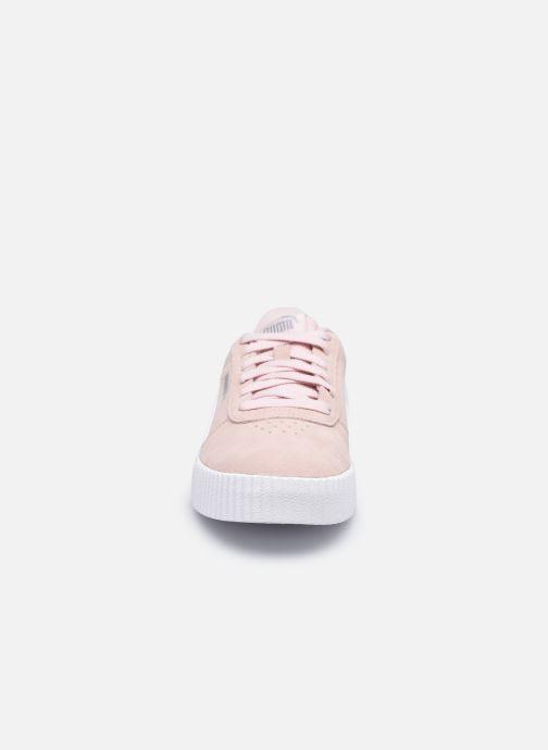 Sneaker Puma Carina W rosa schuhe getragen