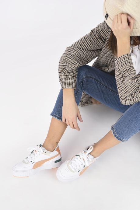 Baskets Puma Cali Sport Mix W Blanc vue bas / vue portée sac