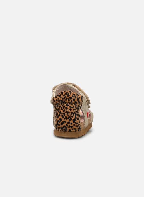 Sandalias Shoesme Bio Sandal BI21S092 Oro y bronce vista lateral derecha