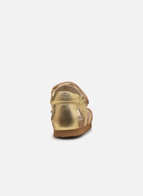 Sandales et nu-pieds Shoesme Bio Sandal BI21S095 Or et bronze vue droite