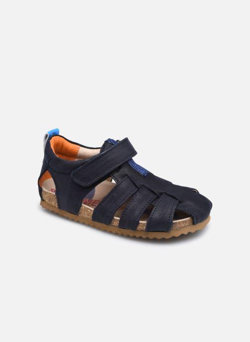 Sandales et nu-pieds Shoesme Bio Sandal BI21S091 Bleu vue détail/paire
