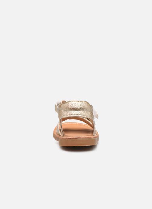 Sandales et nu-pieds Shoesme Classic Sandal CS21S004 Or et bronze vue droite