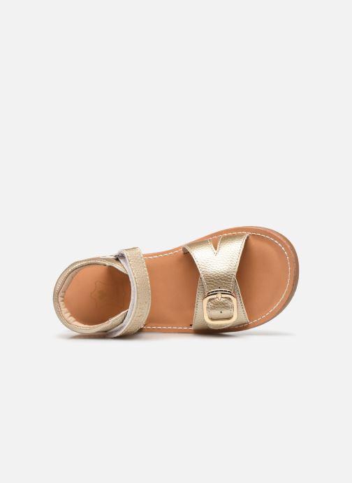 Sandales et nu-pieds Shoesme Classic Sandal CS21S004 Or et bronze vue gauche