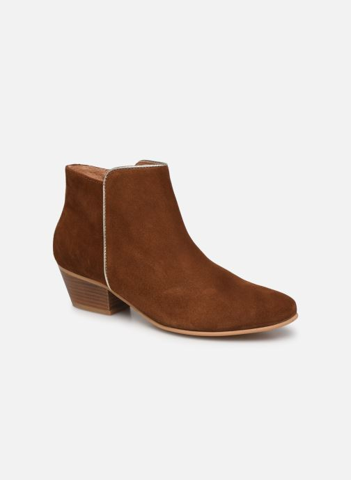 Bottines et boots Georgia Rose Cama Marron vue détail/paire