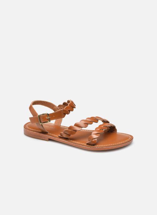 Sandales et nu-pieds Georgia Rose Cléopie Marron vue détail/paire