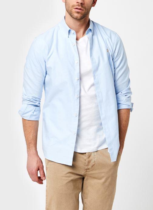 Vêtements Farah Brewer Ls Shirt Bleu vue détail/paire