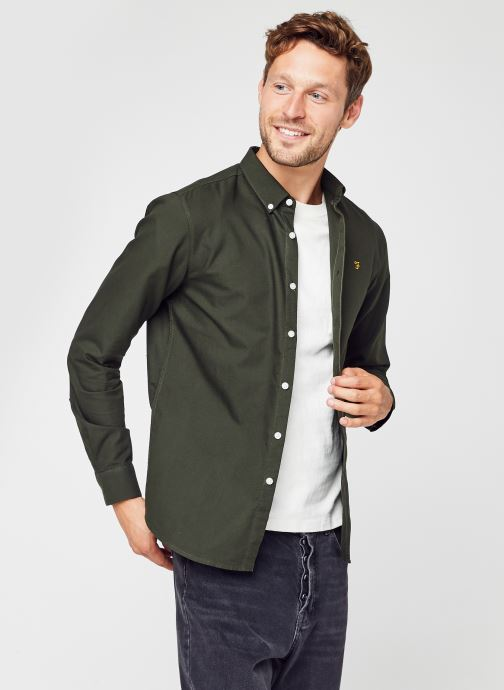 Vêtements Farah Brewer Ls Shirt Vert vue détail/paire