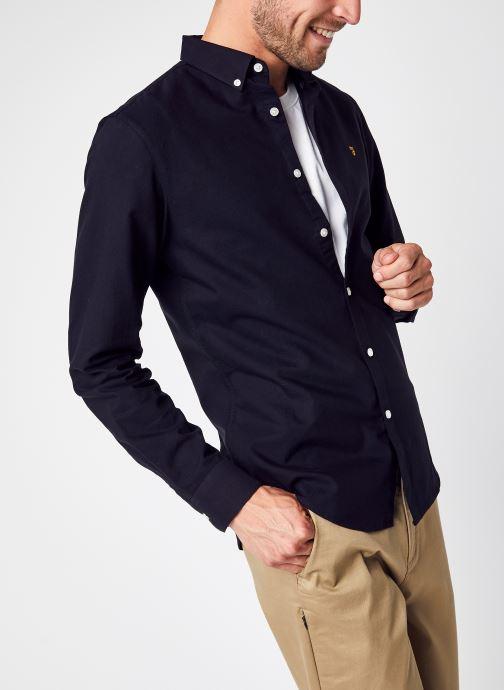 Vêtements Farah Brewer Ls Shirt Noir vue détail/paire