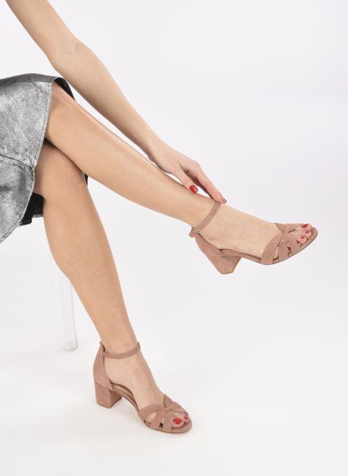 Sandalen Georgia Rose Lucyle rosa ansicht von unten / tasche getragen