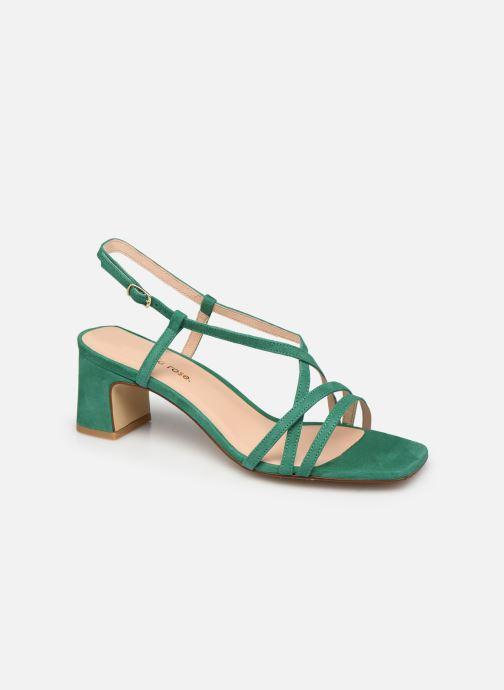 Sandales et nu-pieds Georgia Rose Lyson Vert vue détail/paire