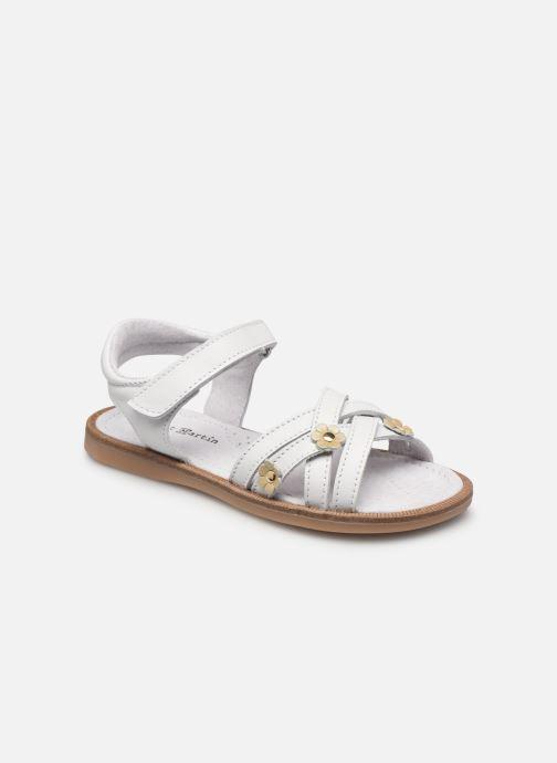 Sandales et nu-pieds Rose et Martin JOYCE LEATHER Blanc vue détail/paire
