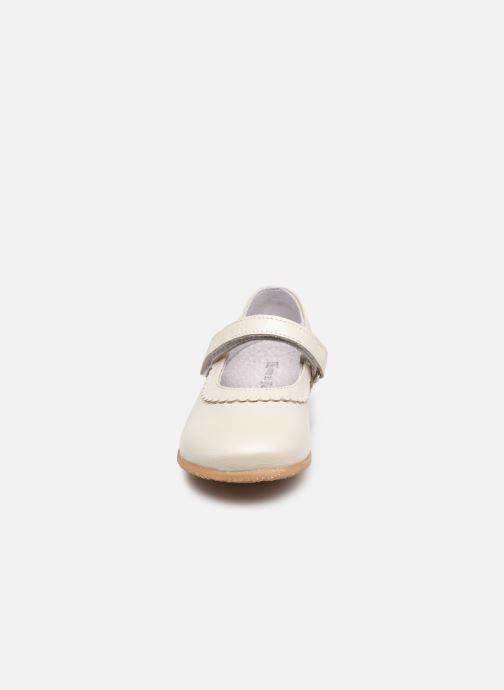 Ballerines Rose et Martin JUDY LEATHER Blanc vue portées chaussures