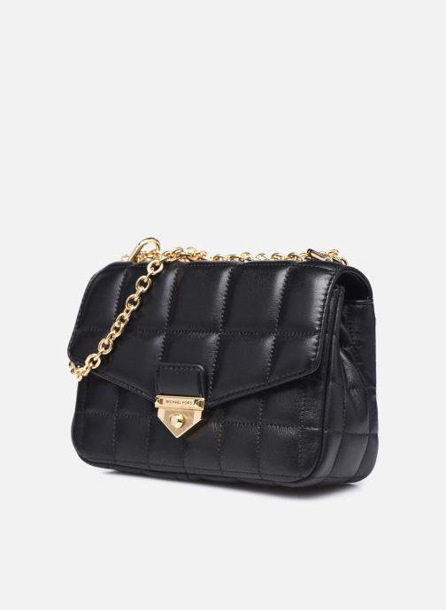 Bolsos de mano Michael Michael Kors SOHO SM CHAIN SHLDR Negro vista del modelo