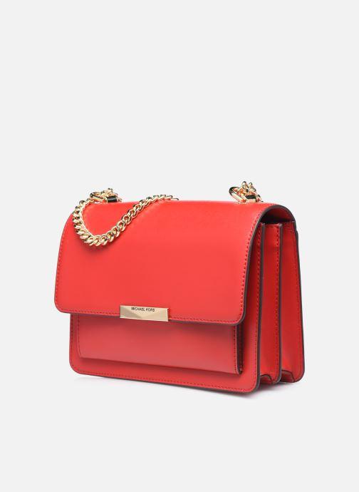 Bolsos de mano Michael Michael Kors LG GUSSET SHLDR Rojo vista del modelo