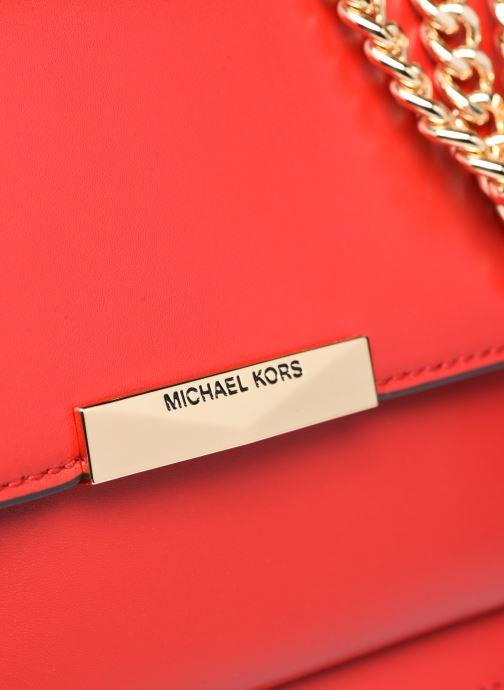 Bolsos de mano Michael Michael Kors LG GUSSET SHLDR Rojo vista lateral izquierda