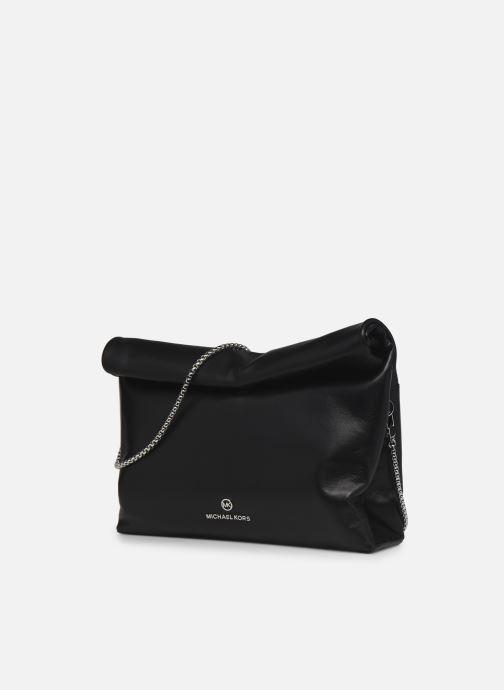 Borse Michael Michael Kors LOLA LG LUNCH BAG XBODY Nero modello indossato