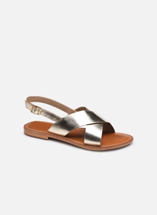 Sandales et nu-pieds L'Atelier Tropézien SASB400LEATH Or et bronze vue détail/paire