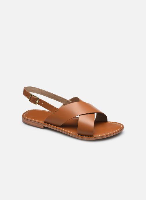 Sandales et nu-pieds L'Atelier Tropézien SASB400LEATH Marron vue détail/paire