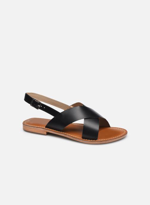 Sandales et nu-pieds L'Atelier Tropézien SASB400LEATH Noir vue détail/paire