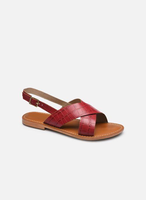 Sandales et nu-pieds L'Atelier Tropézien SASB400CROCO Bordeaux vue détail/paire
