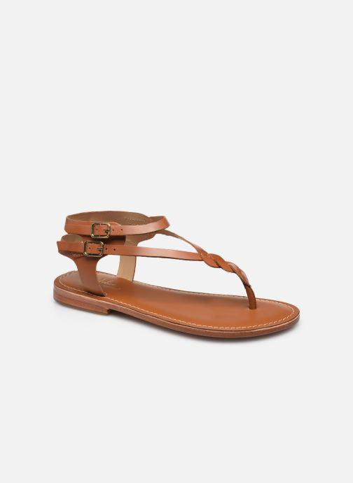 Sandales et nu-pieds L'Atelier Tropézien SH341 Marron vue détail/paire
