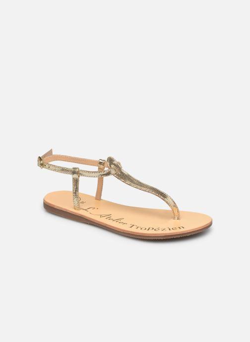 Sandales et nu-pieds L'Atelier Tropézien SH348 Or et bronze vue détail/paire