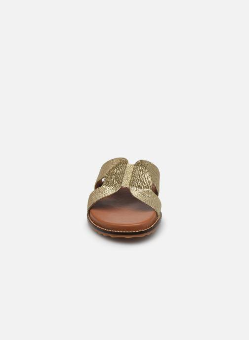 Mules et sabots L'Atelier Tropézien SH307 Or et bronze vue portées chaussures