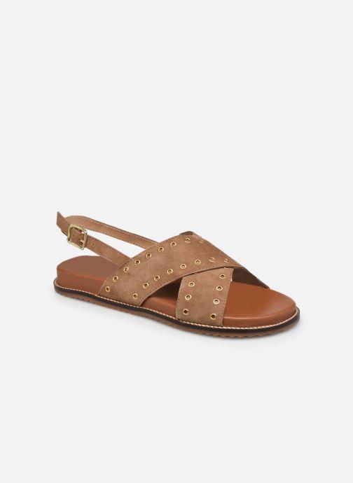 Sandales et nu-pieds L'Atelier Tropézien SH337 Marron vue détail/paire