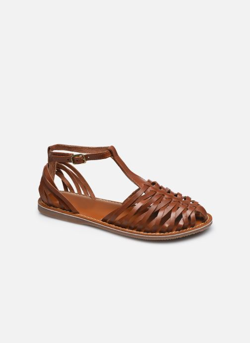 Sandales et nu-pieds L'Atelier Tropézien SB502 Marron vue détail/paire